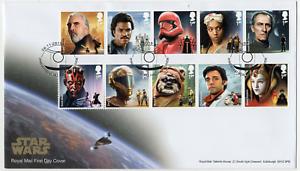 2019-GB-De-Star-Wars-primer-dia-cubierta-sellos-Mini-Hoja-Maquna-Panel-26-11-2019