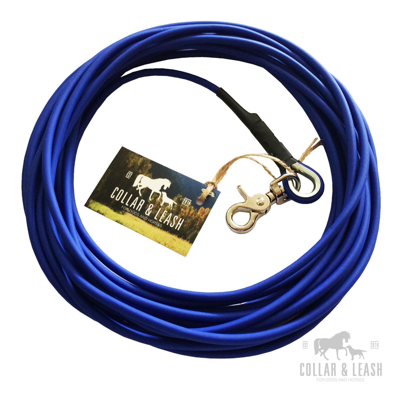 NEUBIOTHANE Hundeleine Leine Fährtenleine Schleppleine 1-15m rund 6mm blau  | Exquisite (mittlere) Verarbeitung