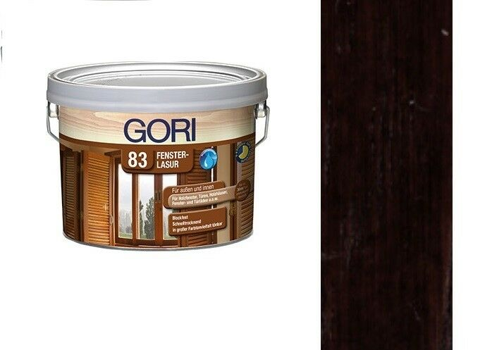 Gori 83 Fensterlasur Innenlasur Palisander 7810  2,5 Liter Holzlasur Holzschutz