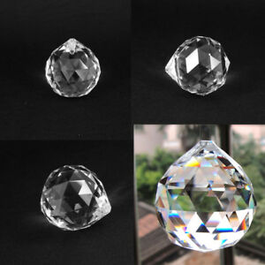 Sphere-Clear-Crystal-Feng-Shui-Ball-Prism-Rainbow-Sun-Catcher-20-50mm-Lamp