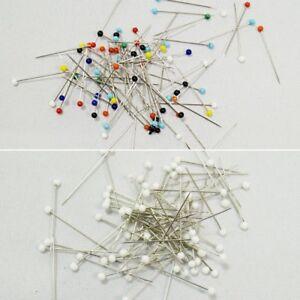 Glass Headed 32mm x 0.6mm Craft Sewing Pins Dressmaking