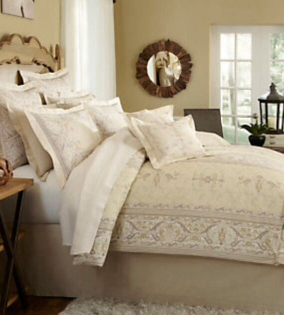 NIP Noble Excellence Villa Geovana Full Queen Duvet 4 pc Set 2 Shams 1 Throw
