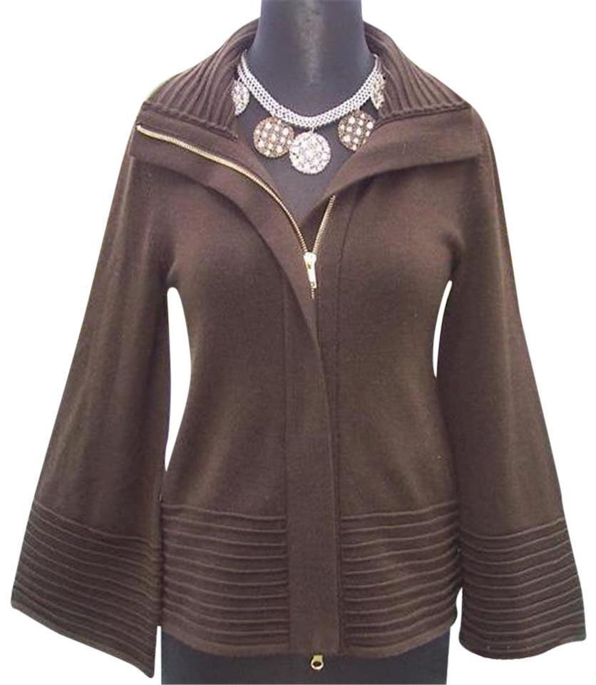Cache 2 Way Un Zip Daring Jacke Top New Größe XS S M Wolle Blend Stretch  118 NWT