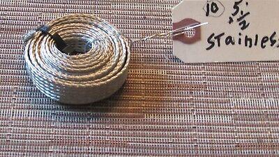 [QMVU_8575]  5 FEET 1/2 BRAIDED BRAID STAINLESS EXPANDABLE SLEEVE WIRE HARNESS   eBay   Braided Stainless Wire Harness      eBay