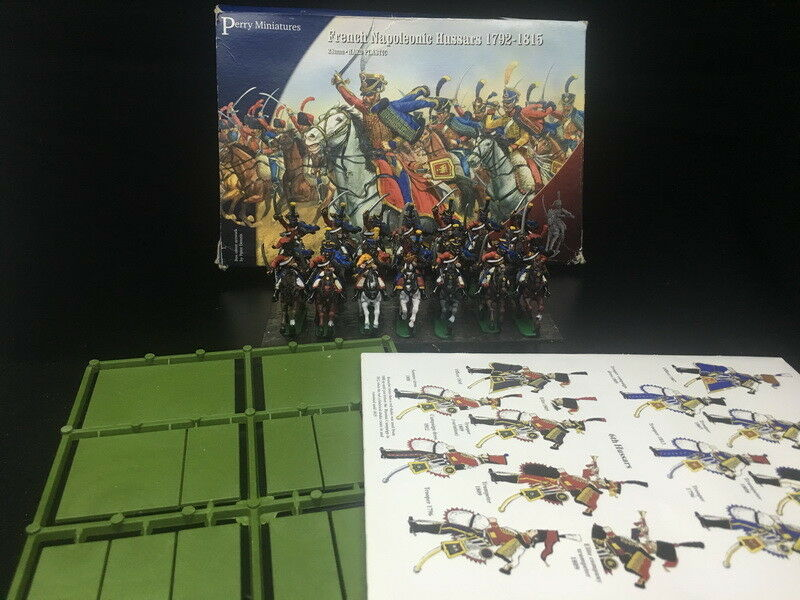 1 56 28mm DPS painted French Napoleonic Hussars, Perry Miniatures RC1019