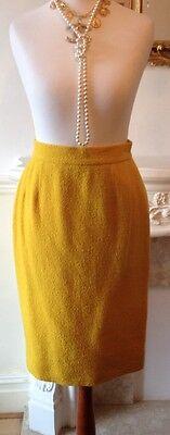 Authentic CHANEL Boutique Vintage Yellow Boucle Skirt FR34 UK6 Fabulous!
