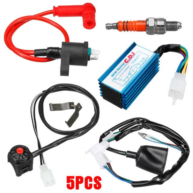 Wiring Loom Kill Switch Coil CDI Kit 50/70/110/125/140/150cc Pit Dirt Bike ATV