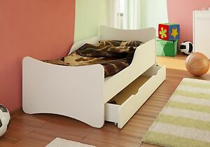bfk bett kinderbett jugendbett wei weiss schublade 70x140 70x160 80x160 90x160 ebay. Black Bedroom Furniture Sets. Home Design Ideas
