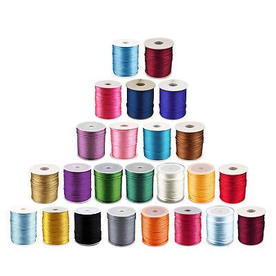 Farbwahl Farbe:Magenta maDDma  10m Meterware Satinschnur 1mm