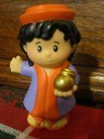 Fisher Price Little People Xmas Wise Man Men Nativity Manger Purple Orange gold