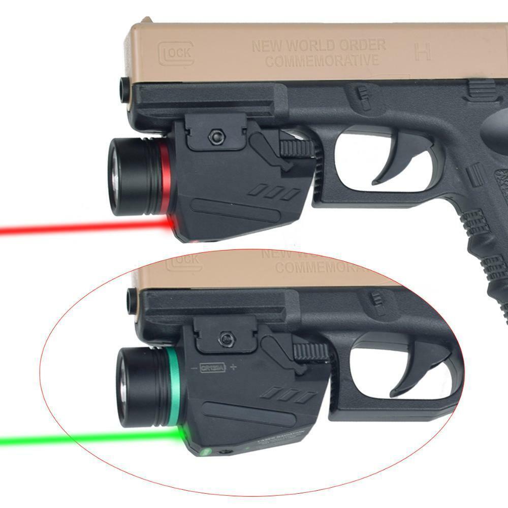 CREE LED Flashlight//light+Green Laser sight Fit for pistol//gun Handgun 20mm rail