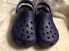 Women's Crocs classic clogs sandals/shoes navy blue size 8-9
