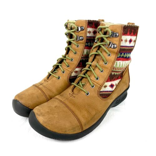 Women's Keen Bern Baby Bern Brown Leather Lace Up