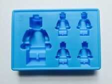 Minifigure silicone ice sugarcraft chocolate cup cake muffin moulds blue