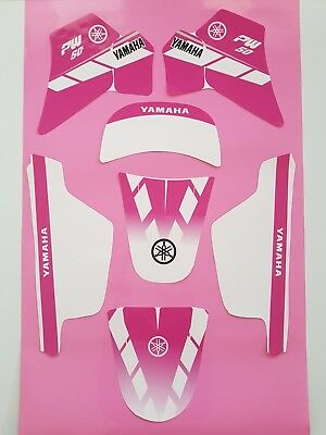 Autocollant Kit Deco Girly pour Yamaha PW 50 Rose PW50 Piwi Qualit/é Standard Offert 2 Stickers MXSPIRIT