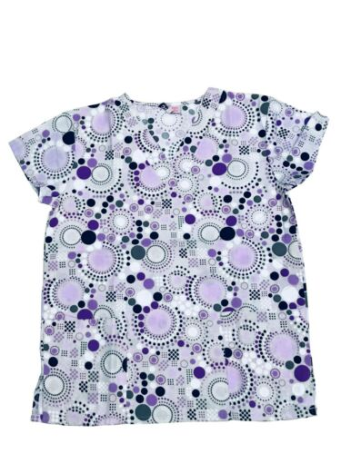 365 Work /& Wear Womens Fashion Medical Nursing Scrub Tops Printed XS-2XL Part3
