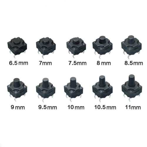 Vertical Waterproof Tactile Switch 8x8x6.5mm~12mm 4Pin Micro Button Small Mini
