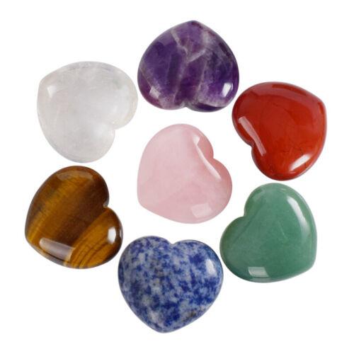 Natural Rose Quartz Heart Shaped Crystal Carved Palm Love Healing Gemstone Sl
