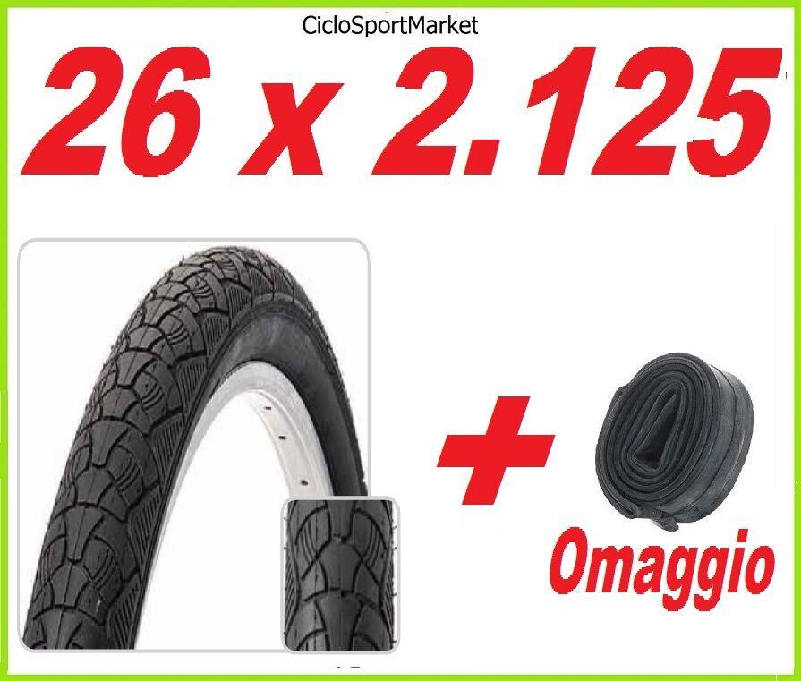 Neumático Neumático Neumático 26 x 2.125 bicicleta Mountain Bike MTB SLICK + CÁMARA DE AIRE REGALO ac5945
