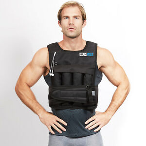 RUNmax-Adjustable-Weighted-Vest-with-SHOULDER-PADS-20lbs-140lbs-Weight-Options