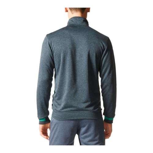 Adidas Men/'s Roland Garros Full Zip Front Pocket Tennis Jacket Gray//Green NEW