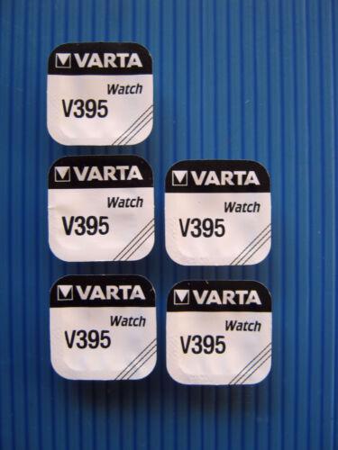 5x V395  VARTA - Uhrenbatterie 1,55Volt/42mAh - SR57SW- SR927SW- RW313- VARTA