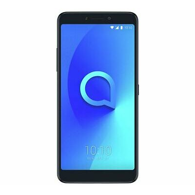 "Alcatel 3V 6"" Smartphone 4G Android 8 16GB 16MP Black Unlocked Sim Free Grade C"