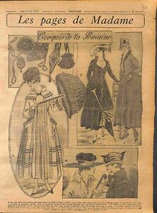 Robes-demi-vagues-serge-sable-Gabardine-Galons-Mode-Paris-Fashion-WWI-1916