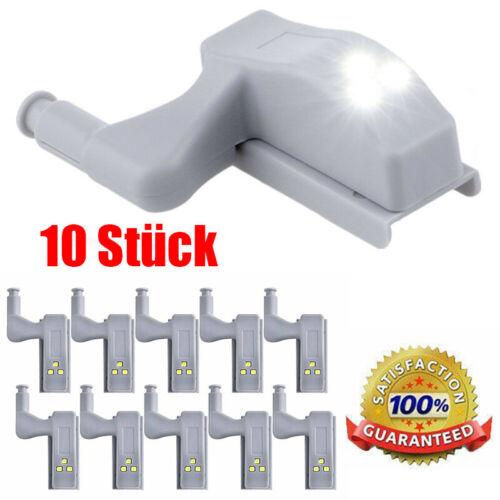10x LED Schrank Lampe Küchenschrank Kleiderschrank Licht Scharnier Sensor Küche