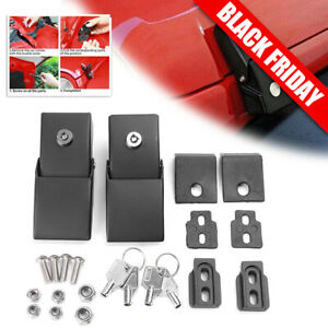 Chrome Aluminum Hood Lock Assembly Locking Hood Latches for Jeep Wrangler JK 07
