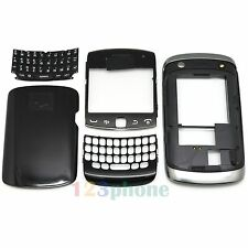 FULL HOUSING COVER + FRAME + KEYPAD FOR BLACKBERRY CURVE 9360 #H272 BLACK