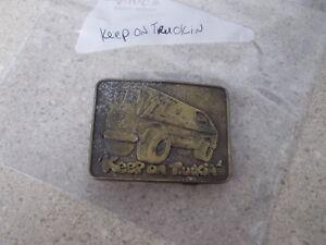 Vintage Keep On Truckin Hot Rod Van Gürtelschnalle Angemessener Preis