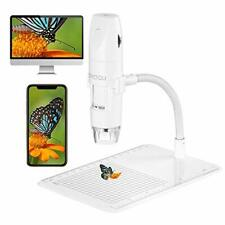 Wireless Digital Microscope Usb 50x 1000x 1080p Handheld Portable Mini White