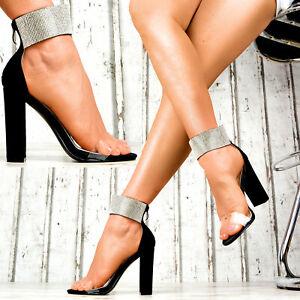 Sandalen Sexy Neu Transparent Pumps Zu Damenschuhe Details Damen Designer Glitzer Party xQBEoreWdC