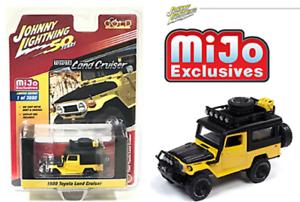 Johnny-Lightning-1-64-Yellow-Toyota-Land-Cruiser-1980-4x4-Off-Road-Car-JLCP7284