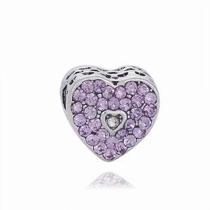Fine-Creative-Purple-CZ-LOVE-Interval-Charm-Bead-Fit-sterling-Bracelet-Chain