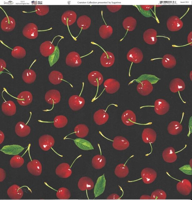 Sugar Tree - Cherries Scrapbooking Paper - 02132 - Fruit Food Cherry