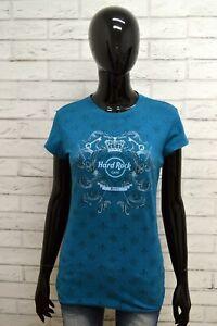Maglia-HARD-ROCK-BERLIN-Donna-Taglia-S-maglietta-Shirt-Woman-Manica-Corta-Blu