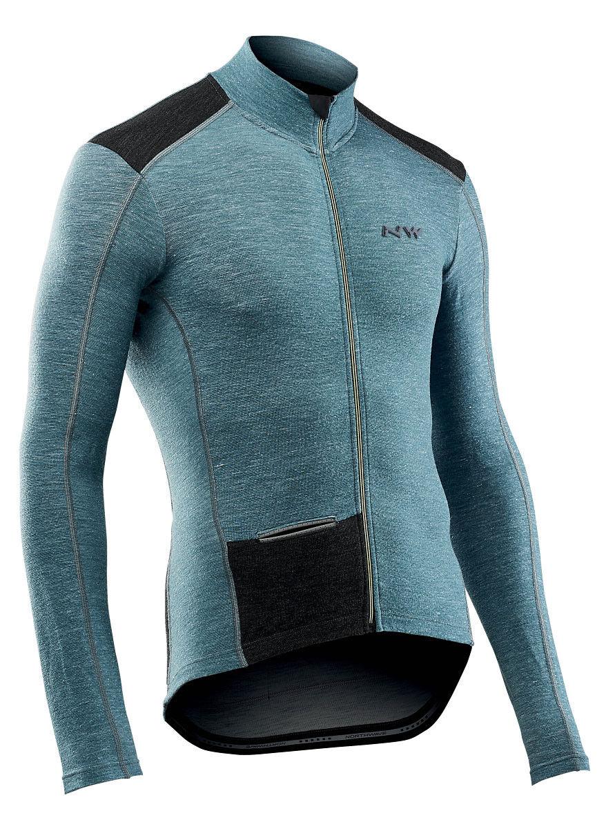Northwave fahrenheit wool invierno bicicleta camiseta azul  2020  70% de descuento