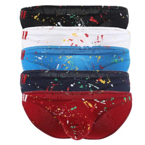 Hommes 1//5 Pack Coton Classique Culottes Slips Sous-vêtements Pigment G String Bikini