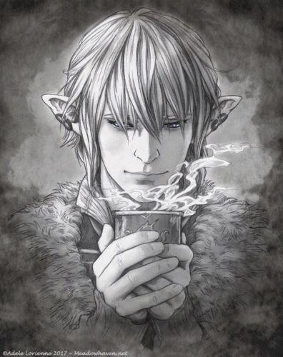 Final Fantasy XIV FF14 FFXIV Fanart Haurchefant Greystone ART PRINT