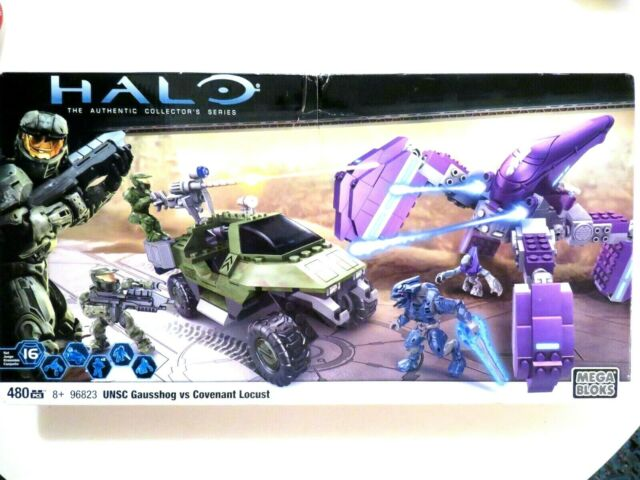MEGA BLOKS HALO WARS 96823 UNSC Gausshog vs.Covenant Locust Set NEW IN BOX!