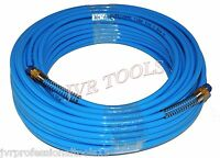 Professional 100ft X 1/4 Npt Air Compressor Pu Hose Roofing Framing Carpentry