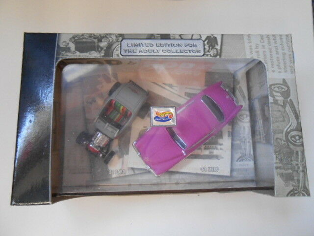 HOT WHEELS 56050 32 FORD 51 MERC ROD & CUSTOM 2001 LIMITED EDITION NEW SEALED