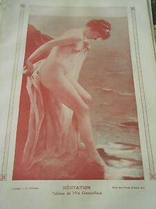 Hesiataion-d-039-apres-tableau-Mlle-Grenouilloux-femme-nue-Print-Art-deco