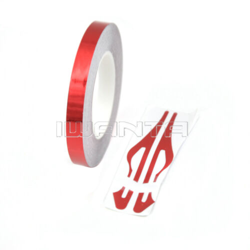 "1//3/"" Red Chrome Pinstripe Pin Stripe DIY Line Roll Vinyl Tape Decal Sticker 32ft"