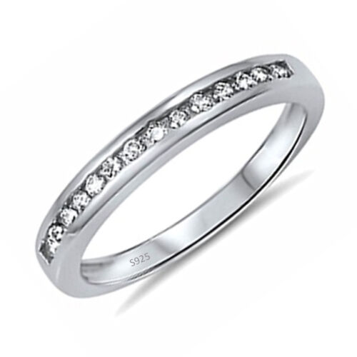 Women/'s .925 Sterling Silver Anniversary Wedding Engagement Ring Band Size 5-10