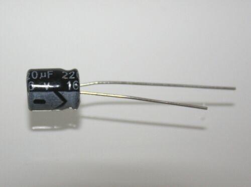 Condensatori Elettrolitici 16V 220uF 105 °C 6x7mm 5 Pezzi