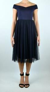 New-Coast-Navy-Eden-Bardot-Midi-Dress-Perfect-Prom-Occasion-Piece-RRP-99
