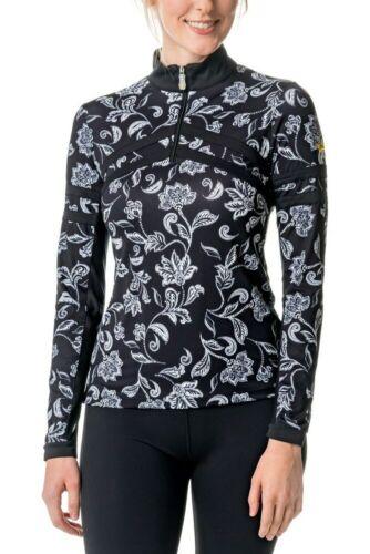 Black /& White Floral Chevron Kastel Denmark Long Sleeve Sun Shirt